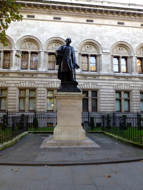 Statue of Sir Henry Irving in Charing Cross Road