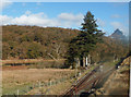 SH6742 : Ddaullt station from railway overbridge by John Firth