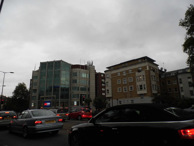West Cromwell Road at the junction of Earls Court Road