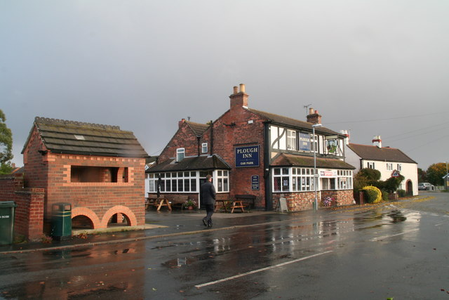 The Market Place, the Plough and the bus shelter