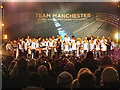 SJ8398 : Team Manchester, Albert Square by David Dixon