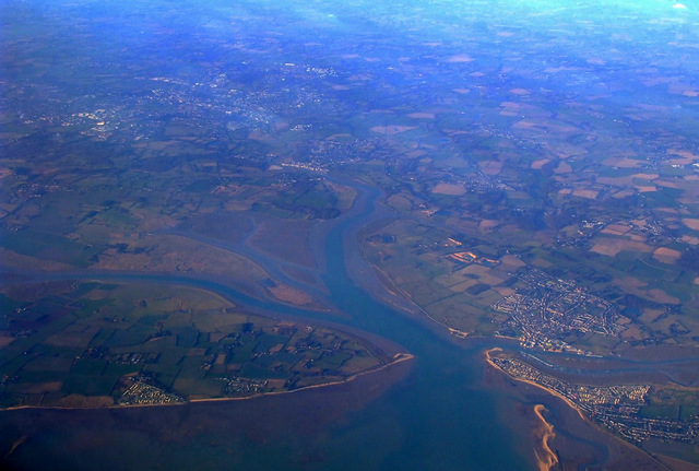 Brightlingsea Reach from the air
