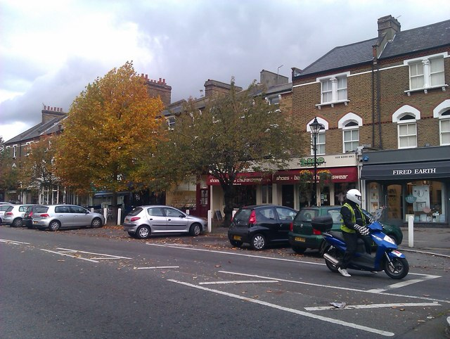 Parade of shops in Dulwich Village