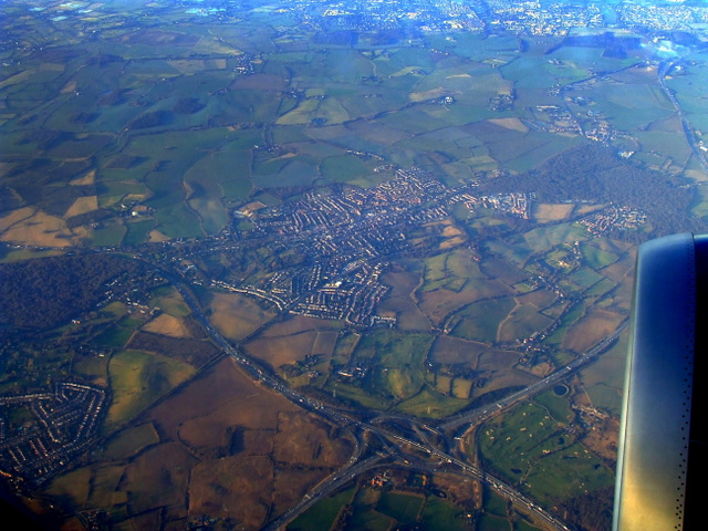 M25 and M11 motorways from the air