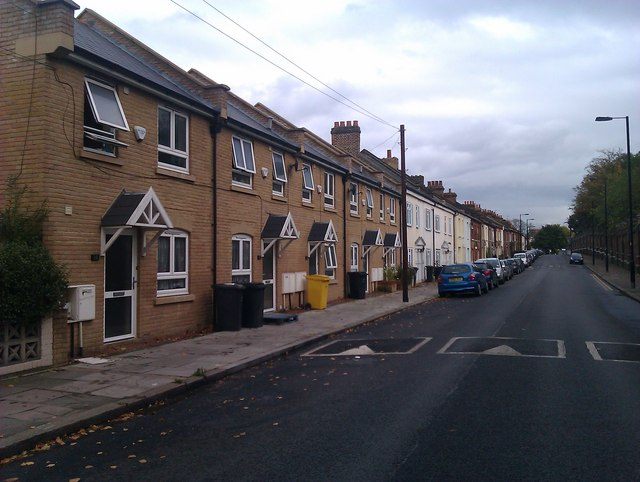 Terraced houses in Robson Road