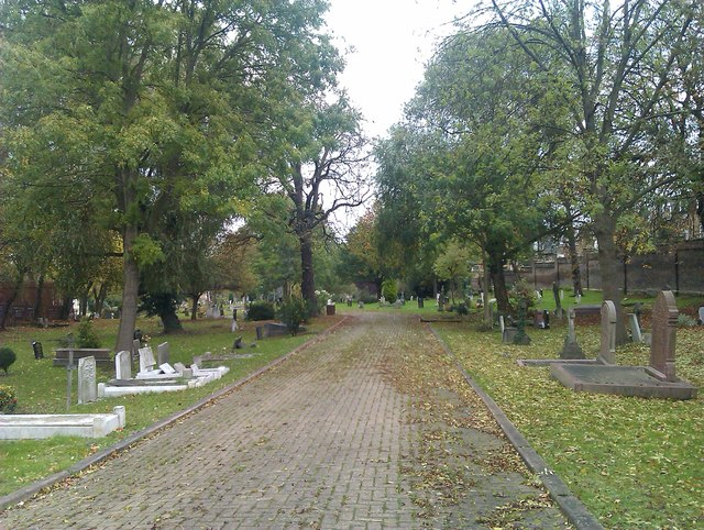 Looking into West Norwood Cemetery