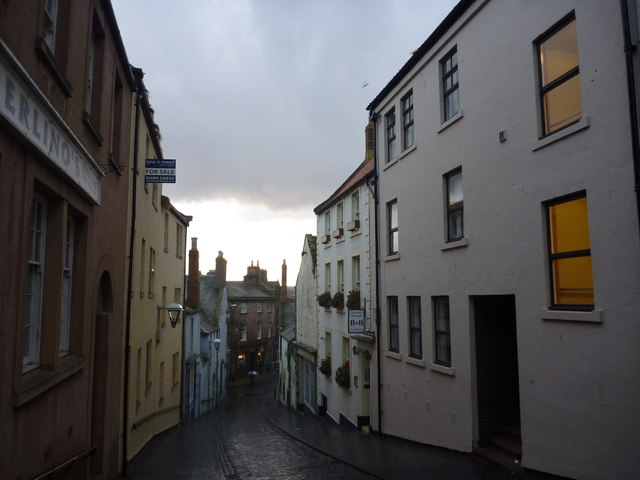 Berwick Townscape : Black Hailcloud Over West Street
