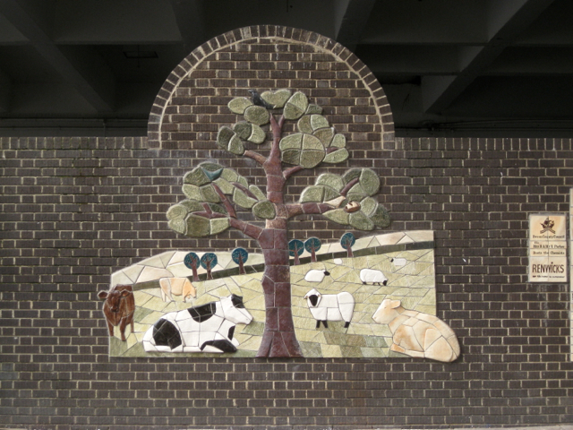 Ceramic relief, Sherbourne Road bus station