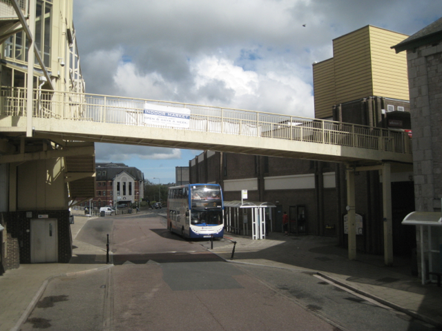 Footbridge over Sherbourne Road bus station