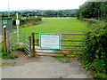 SO1533 : Entrance gate to Gwernyfed RFC, Talgarth by John Grayson
