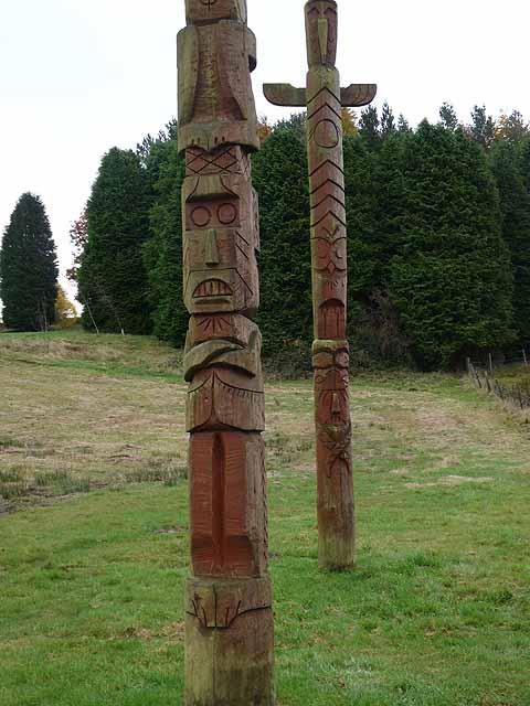 Totem poles, Stonehaugh - detail