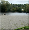 SO1739 : Kayaking on the Wye, Glasbury by Jaggery