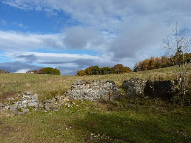 Trackside ruin