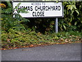 TM2851 : Thomas Churchyard Close sign by Adrian Cable