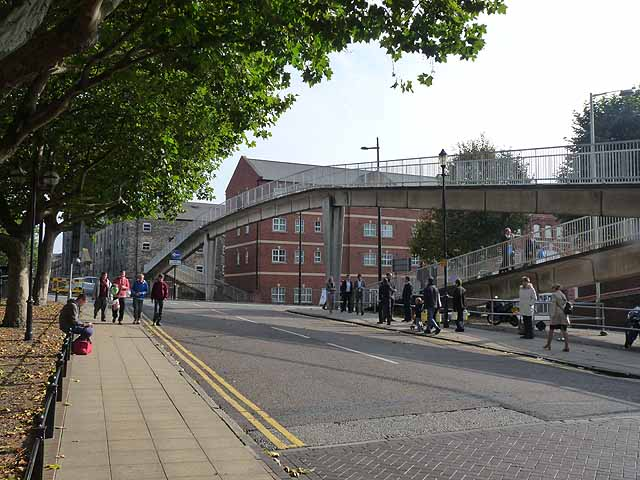 Footbridge over Broadgate, Lincoln