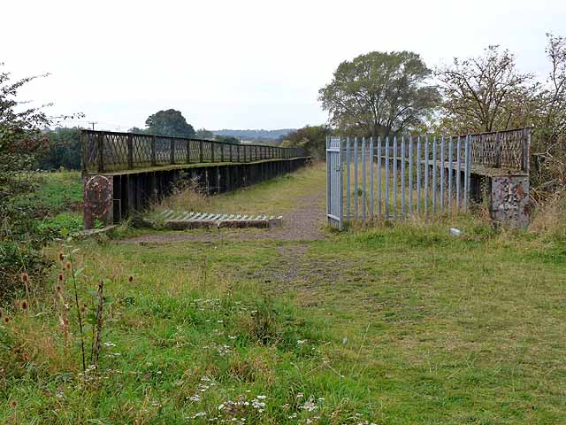 Old railway bridge over the South Delph