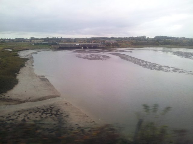Sluice and Cattawade Bridge just outside Manningtree