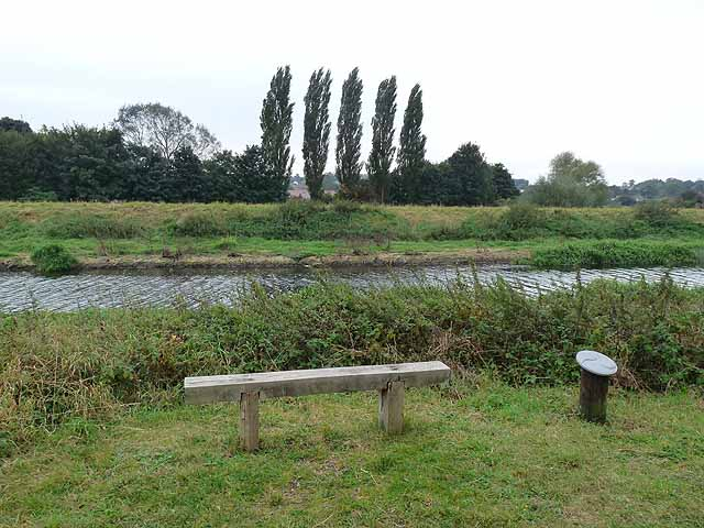Bench beside the Water Rail Way