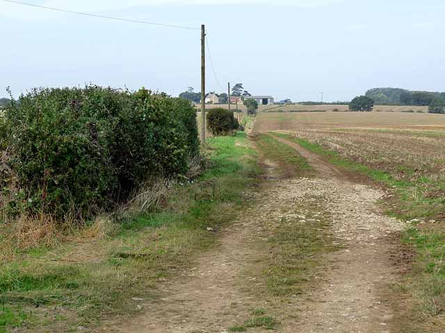 Farm track leading to Third Hill Farm