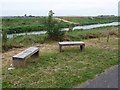TF0970 : Benches by the Water Rail Way by Oliver Dixon