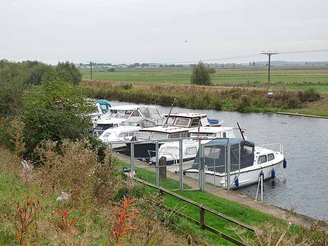 Moorings at Bardney Lock