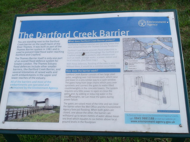 The Dartford Creek Barrier Information Board