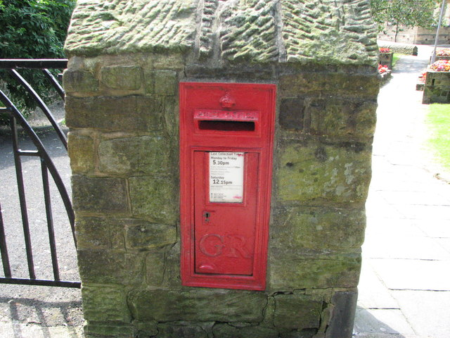Post box in Church pillar