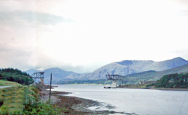 A82(T) bridge under construction at Ballachulish Ferry, 1974