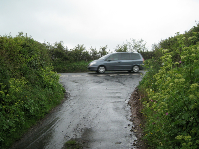 Top of Ridgeway Lane in the rain