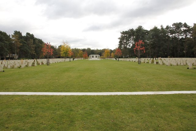 Looking down the Cemetery