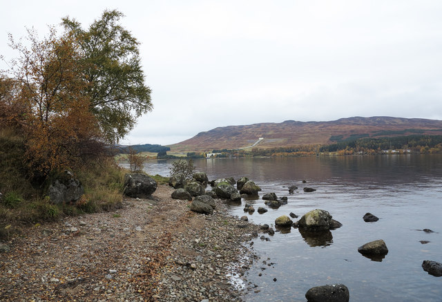 Boulders at south shore of Loch Rannoch