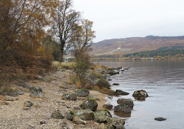 Boulders at southern shore of Loch Rannoch