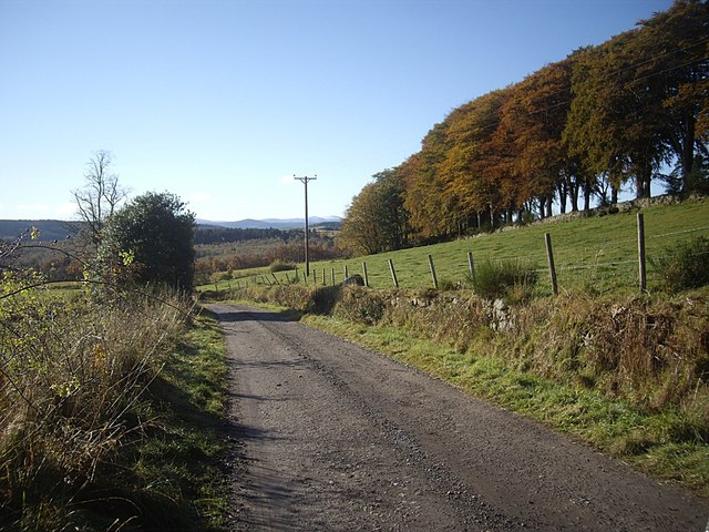 Road west from East Learney