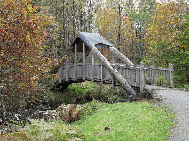 Footbridge over the Carie Burn