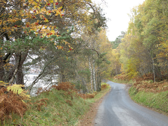 Minor road on south side of Loch Rannoch