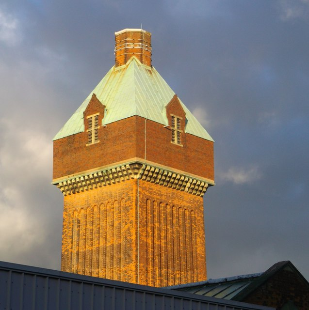 Medway hospital laundry water tower