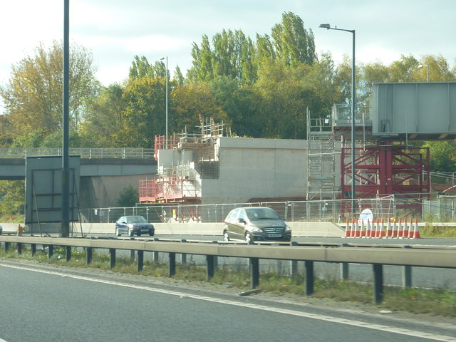 Metrolink Bridge Under Construction, M56