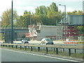 SJ8188 : Metrolink Bridge Under Construction, M56 by Richard Cooke
