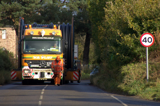 Wide load on its way to Balbair Switching Station