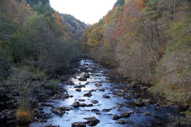 River Cannich from Cannich Bridge at Cannich