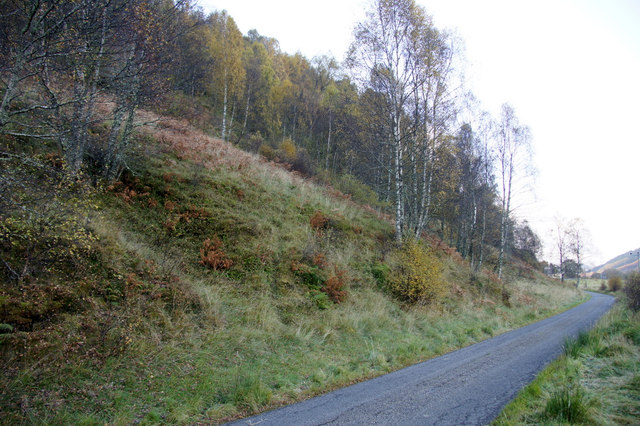Minor road at Crochail, Strathglass