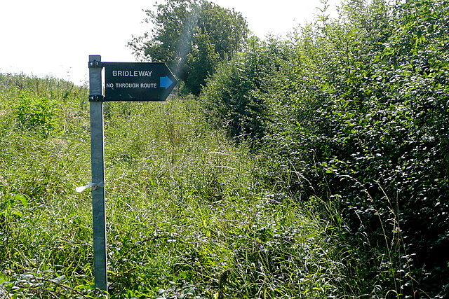 Bridleway - no through route
