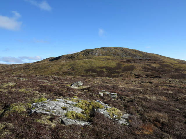 Low heather with rock slab outcrop