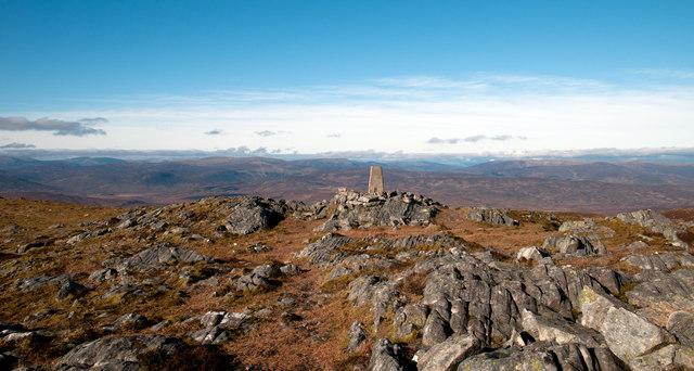 Rocks at summit area of Beinn a' Chuallaich