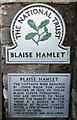 ST5678 : National Trust Plaque at the entrance to Blaise Hamlet, Bristol by Jaggery