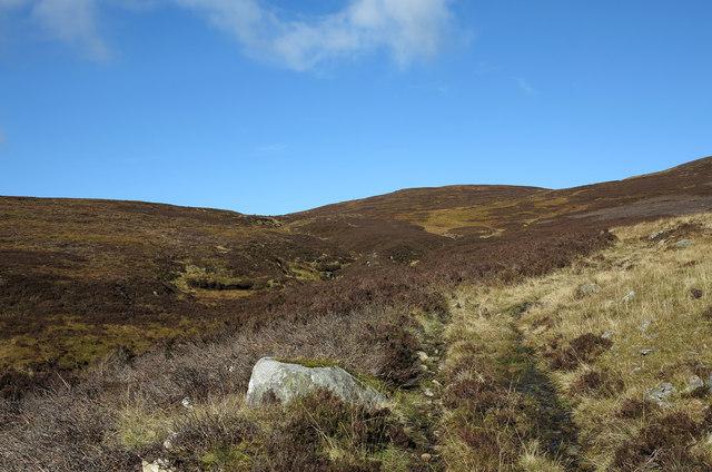 Stream with  stalkers' path beside Beinn a' Chuallaich