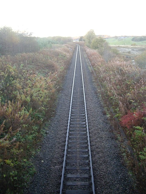 Single-track railway between Dyce and Inverurie