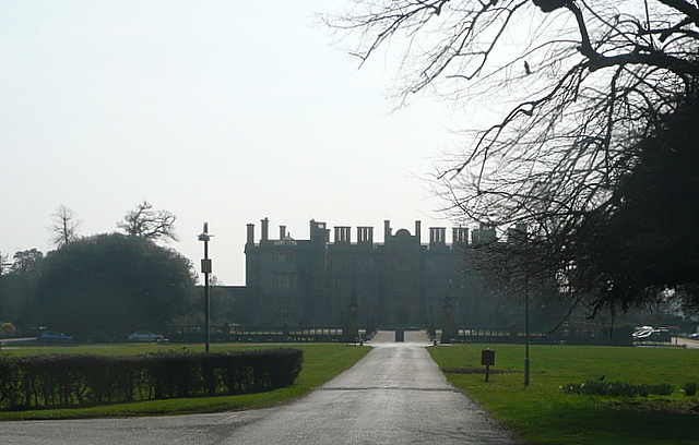 Approaching Eynsham Hall