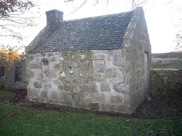 Mort House in St Fergus graveyard