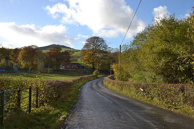 The Abbey Cwm-hir road at Cuckoo Bridge